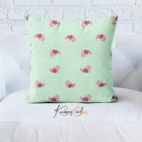 Kumaş Evi Dekoratif Yastık Kılıfı  - SPL227TS - Çiçekler