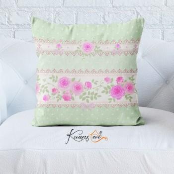 Kumaş Evi Dekoratif Yastık Kılıfı - SPL265TS - Çiçekler