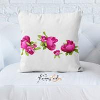 Kumaş Evi Dekoratif Yastık Kılıfı - 8 - Çiçekler